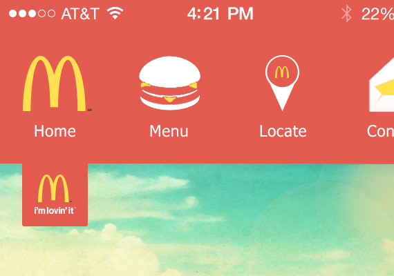 This is a redesign idea for the McDonald's iPhone app.
