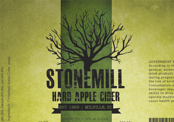 A label designed by me for a ficitional hard cider brand.