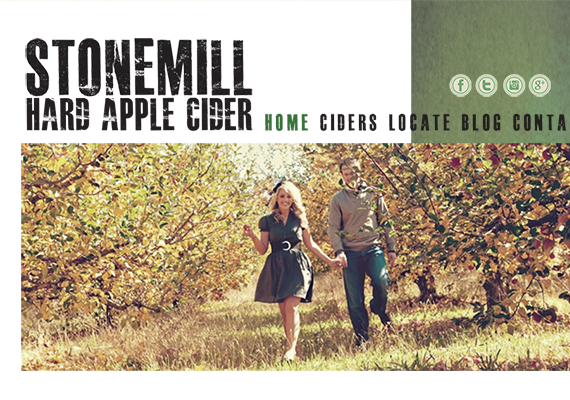 This is the acompanying website mockup to go along with the Stonemill Cider Brand.